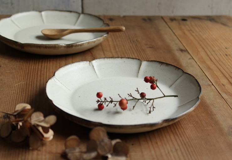 花皿: 陶器 あ⇔んが手掛けた折衷的なです。,オリジナル 陶器