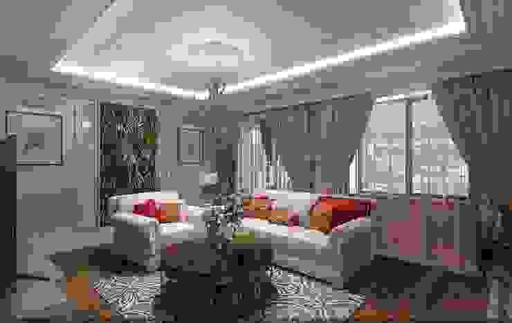 Квартира в г.Элиста 147кв.м. Гостиная в классическом стиле от Студия дизайна Натали Хованской Классический