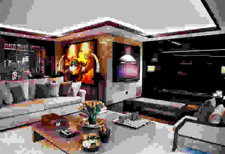 K.Ç EVİ Kerim Çarmıklı İç Mimarlık Modern Oturma Odası