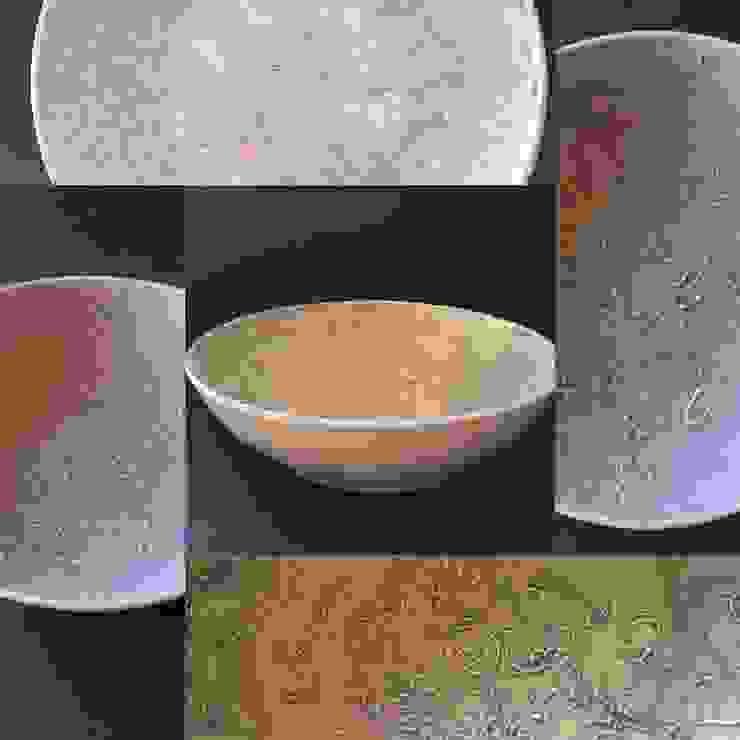 新作レースの器 パステル紫 深鉢大: 陶芸工房ラ・プエルタ が手掛けた現代のです。,モダン 磁器
