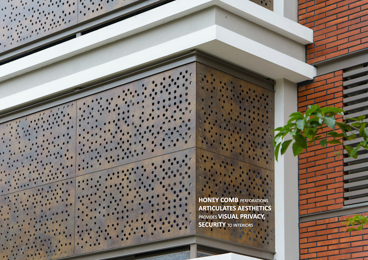 Facade-Beehive Asian style houses by 4site architects Asian Wood-Plastic Composite