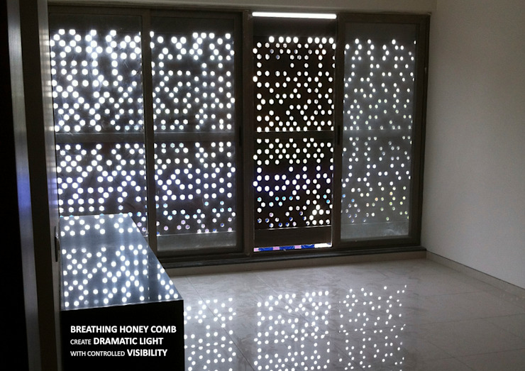 Interior of Facade-Beehive Asian style dining room by 4site architects Asian Wood-Plastic Composite