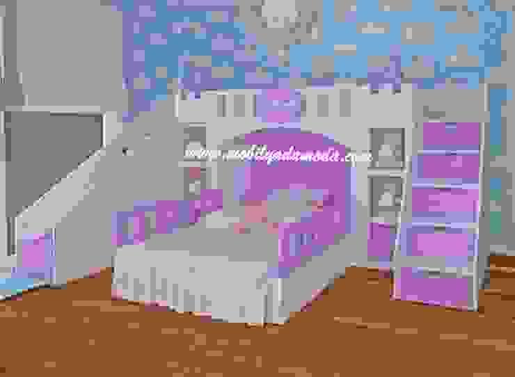 Kumsal'ın Odası/Hatay/Şatolu Kaydıraklı Oda Modern Çocuk Odası MOBİLYADA MODA Modern