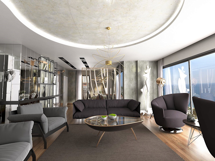 Living room by Murat Aksel Architecture