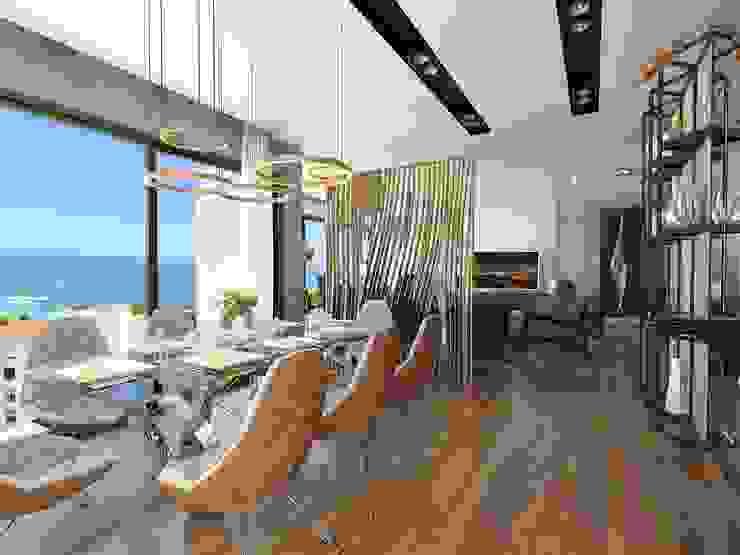Moderne eetkamers van Murat Aksel Architecture Modern Koper / Brons / Messing