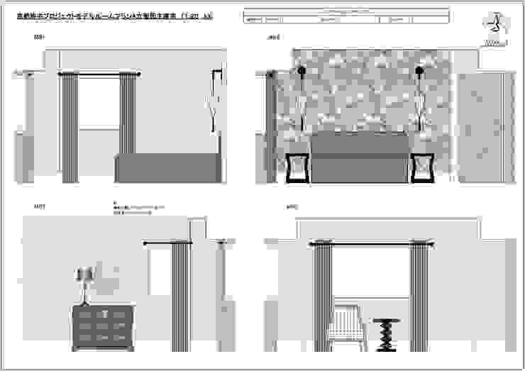 デザインの雰囲気を伝える立面図。: 澤山乃莉子 DESIGN & ASSOCIATES LTD.が手掛けた折衷的なです。,オリジナル