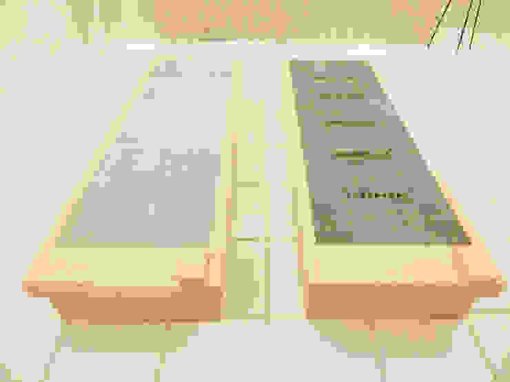 岩盤ストーンスパ その1: 株式会社ヒーリング HEALING. Co., Ltd.が手掛けた寝室です。