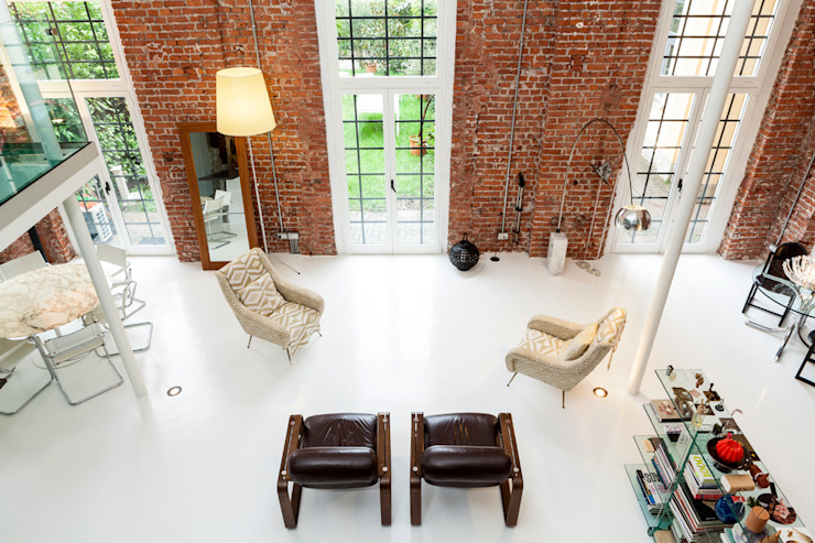 Progetto Salas de estar modernas por studio mamo Moderno