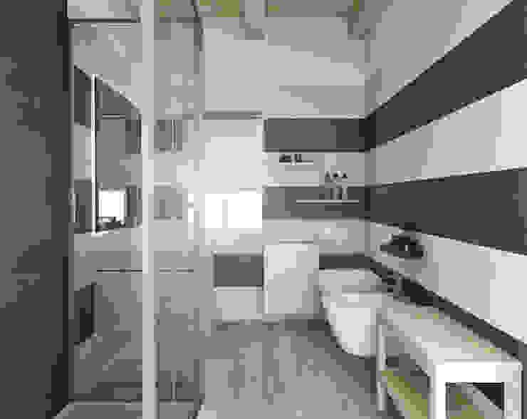 Architetto Luigia Pace Modern bathroom Wood White