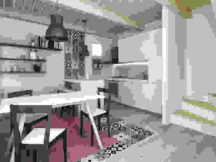 Architetto Luigia Pace Modern kitchen Wood White