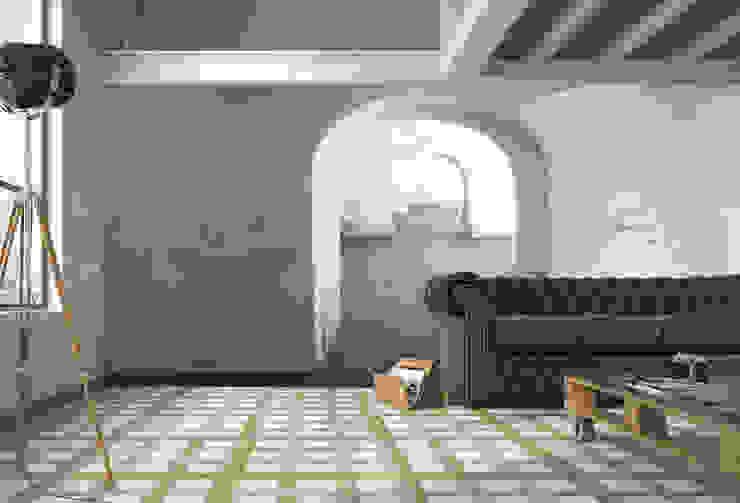 Paredes y suelos de estilo ecléctico de Creativespace Sartoria Murale Ecléctico