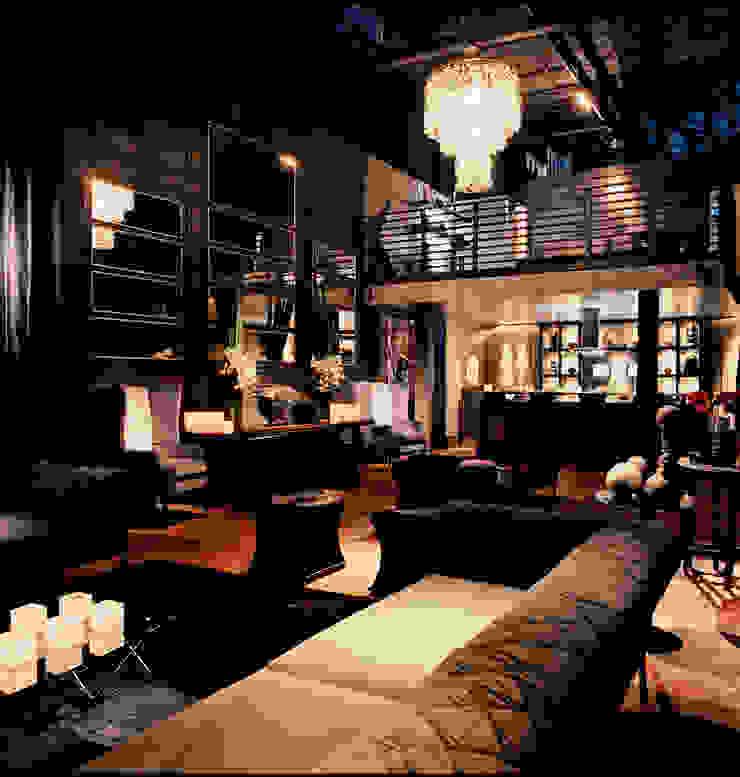 PROJETO ARQ. ELAINE BETTIO Salas de estar modernas por BRAESCHER FOTOGRAFIA Moderno