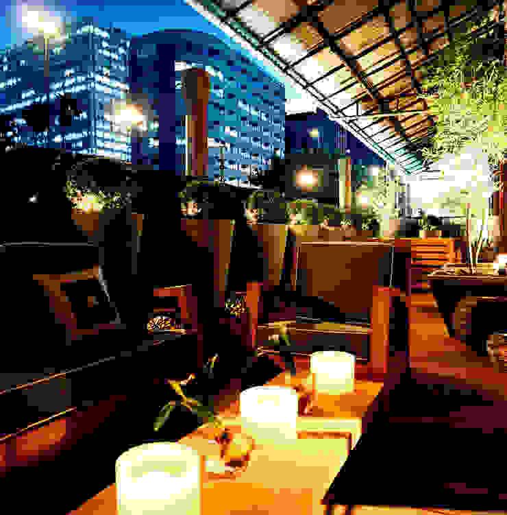 PROJETO ARQ. ELAINE BETTIO Varandas, alpendres e terraços modernos por BRAESCHER FOTOGRAFIA Moderno