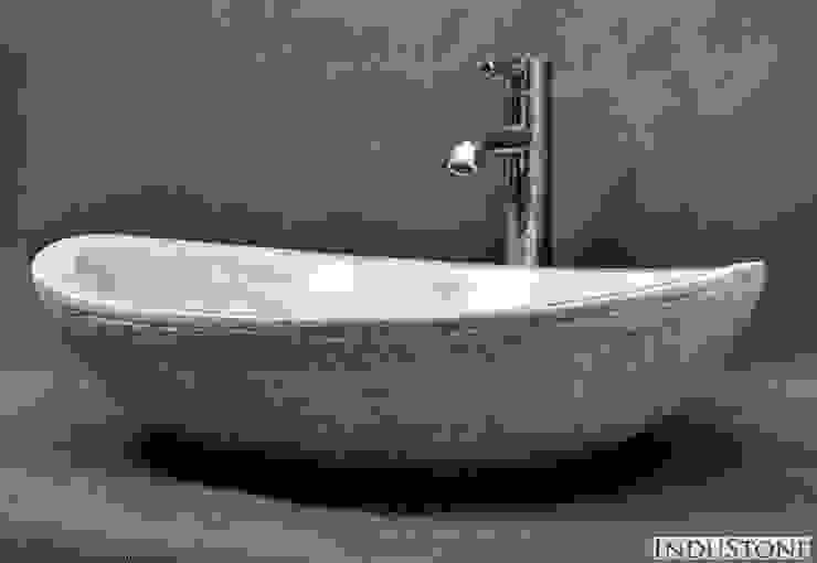 Umywalki z kamienia naturalnego od Industone.pl Eklektyczny