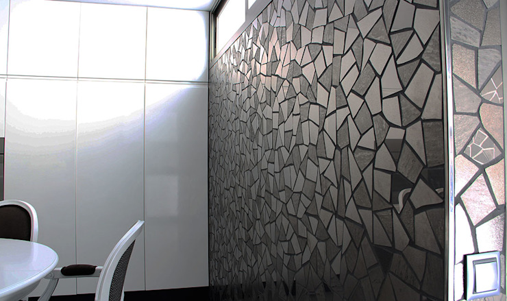 Trencadis mosaics customized for kitchen Trencadis Innovacion SL Kitchen Ceramic Black