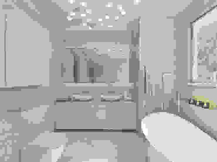 STREFA ODPOCZYNKU Nowoczesna łazienka od UTOO-Pracownia Architektury Wnętrz i Krajobrazu Nowoczesny