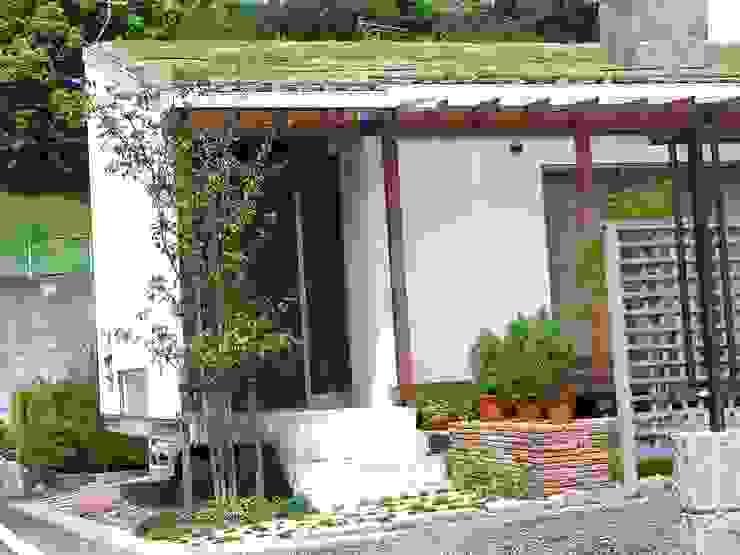 エントランス 小栗建築設計室 ラスティックな 家