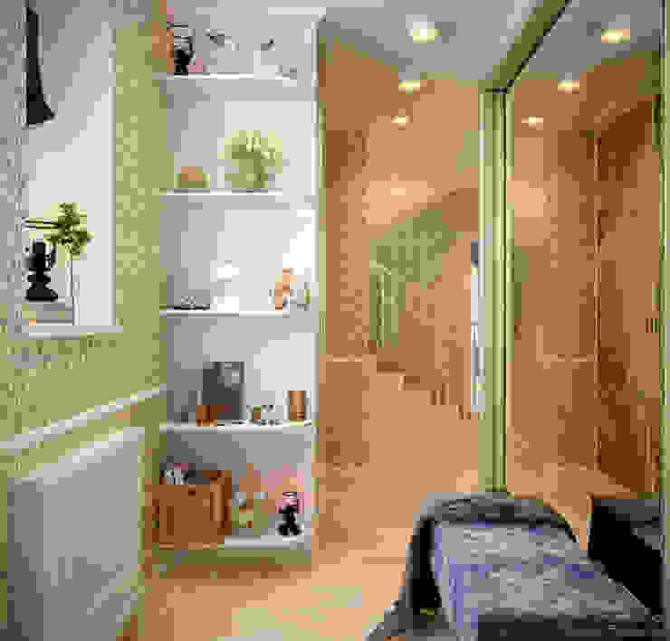 Дизайн прихожей в стиле неоклассика в пос. Краснодарский Коридор, прихожая и лестница в эклектичном стиле от Студия интерьерного дизайна happy.design Эклектичный