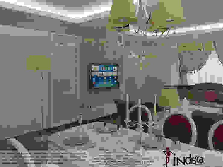 Classic style dining room by İNDEKSA Mimarlık İç Mimarlık İnşaat Taahüt Ltd.Şti. Classic Wood Wood effect