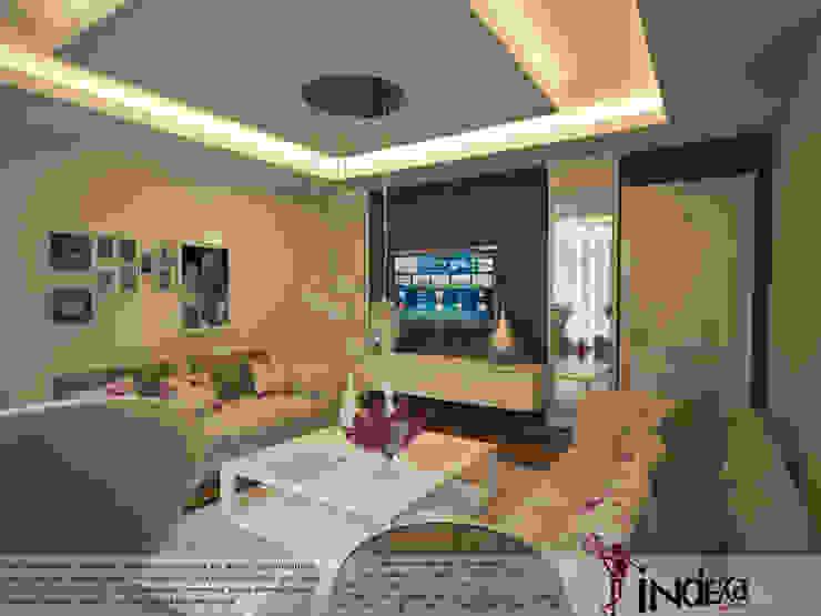 YAŞANILABİLECEK ALANLAR TASARLIYOR VE YAPIYORUZ.. Modern Oturma Odası İNDEKSA Mimarlık İç Mimarlık İnşaat Taahüt Ltd.Şti. Modern Ahşap Ahşap rengi