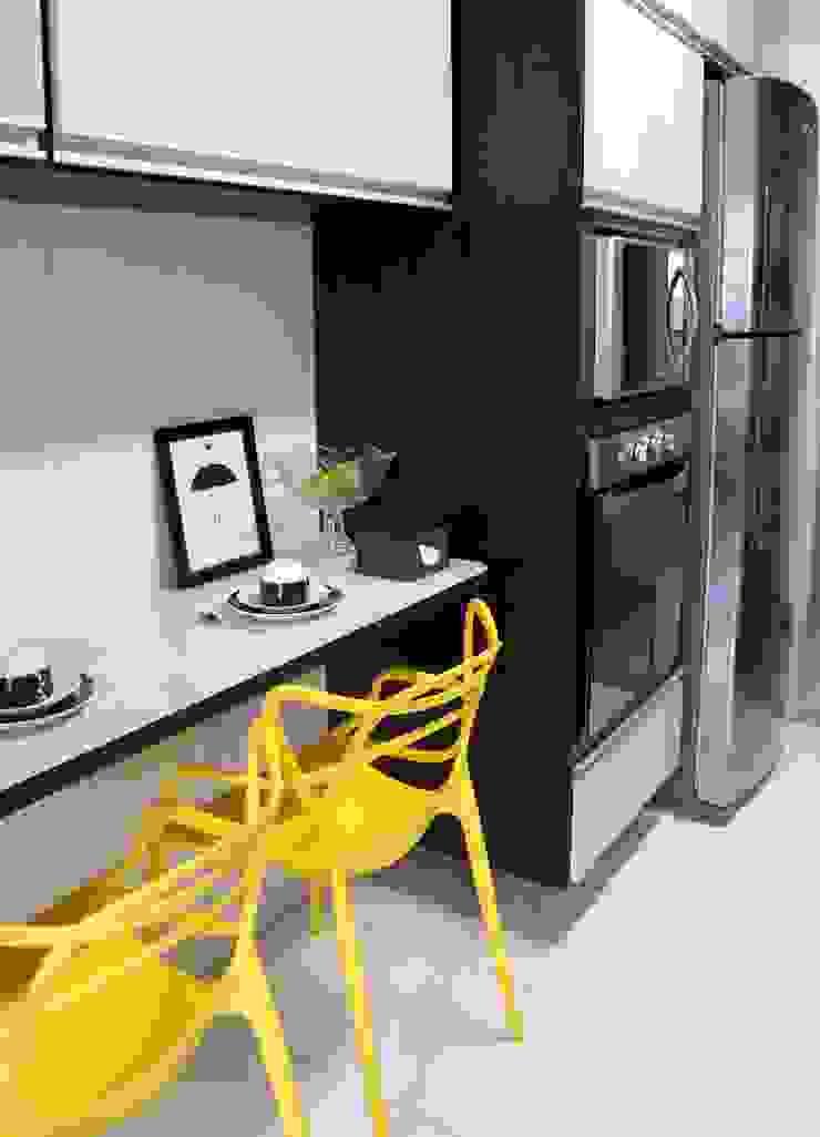 APARTAMENTO ATS Cozinhas modernas por TAED ARQUITETURA Moderno