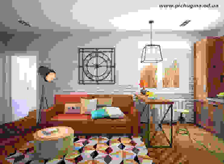 Квартира в ЖК Царицино Гостиная в стиле модерн от Tatyana Pichugina Design Модерн
