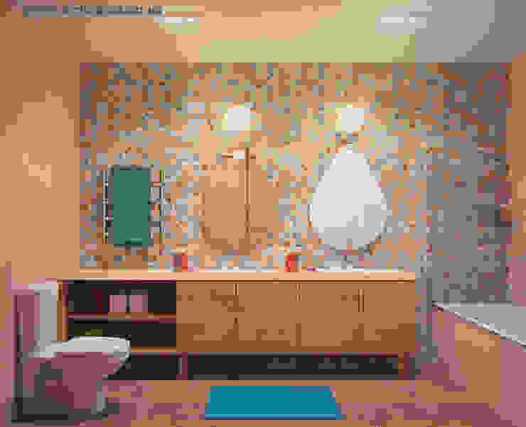 Квартира в ЖК Царицино Ванная комната в стиле модерн от Tatyana Pichugina Design Модерн