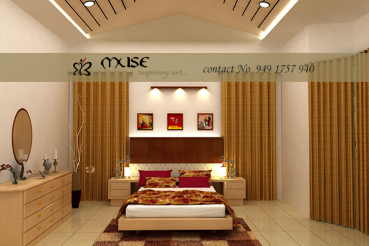 Modern style bedroom by Muse Interiors Modern