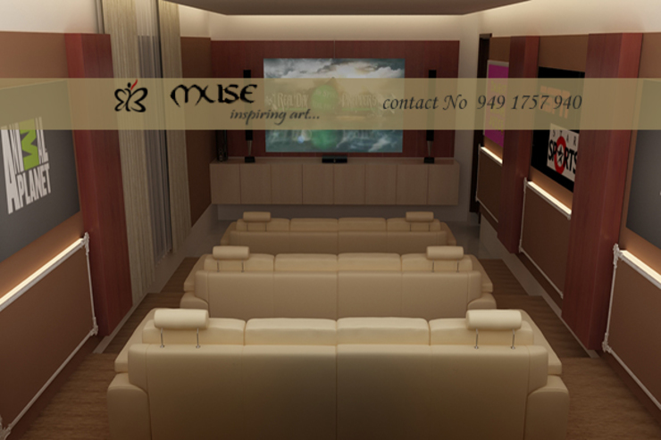 Residential pProjects Modern media room by Muse Interiors Modern