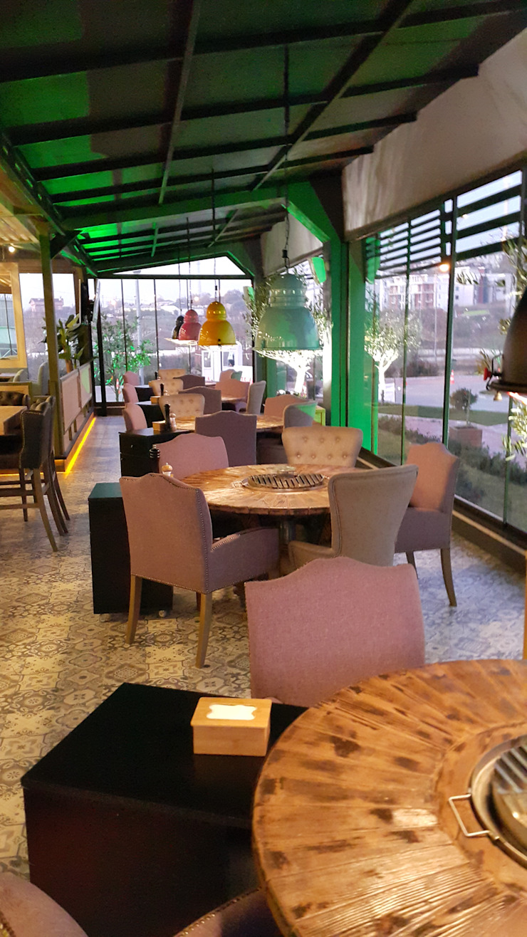 cafe chair N'CESUR FURNİTURE Endüstriyel Ahşap Ahşap rengi