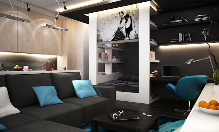 Menz Design – Yatak Odası : minimalist tarz , Minimalist