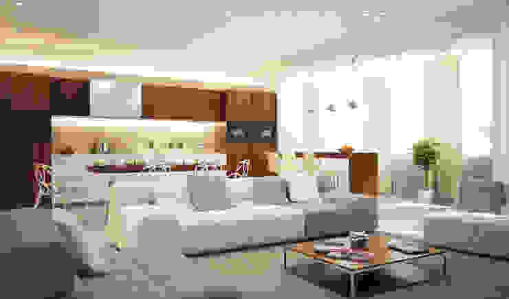 Menz Design – Salon: modern tarz , Modern