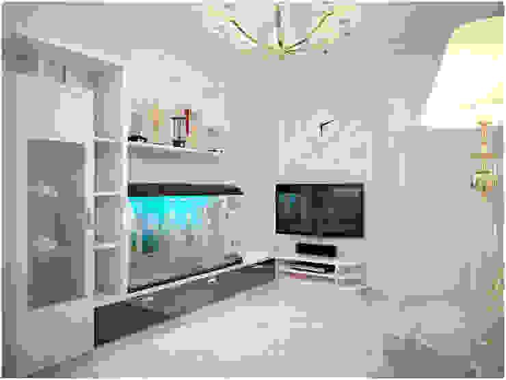 Дизайн-проект трехкомнатной квартиры 94 м2, 2015г Гостиная в стиле модерн от Artstyle Модерн