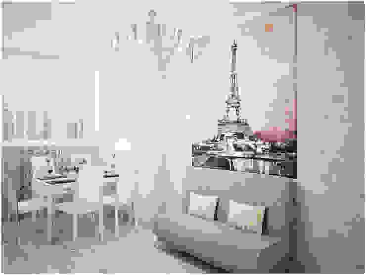 Дизайн-проект трехкомнатной квартиры 94 м2, 2015г Кухня в стиле модерн от Artstyle Модерн