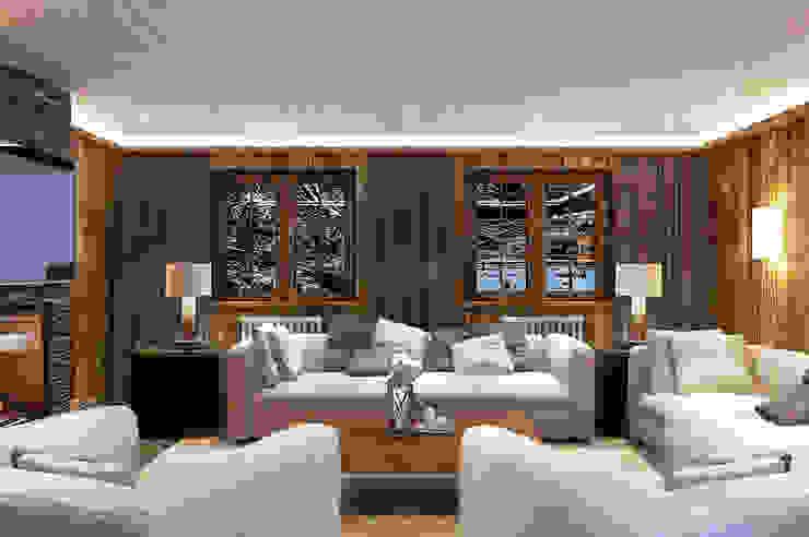Wohnzimmer im Landhausstil von Alexander Krivov Landhaus Holz Holznachbildung