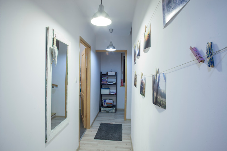 Corredores e halls de entrada  por Patyna Projekt , Escandinavo Madeira Efeito de madeira