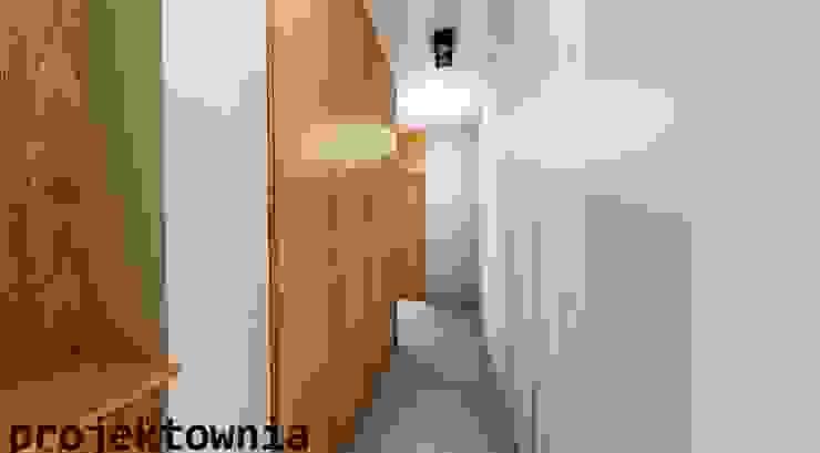 apartament Villa Park Nowoczesny korytarz, przedpokój i schody od Projektownia Marzena Dąbrowska Nowoczesny