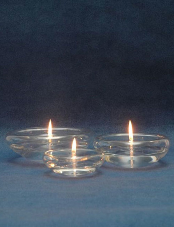 Tranquil Glass Oil Lamp Candle de The London Candle Company Minimalista Vidrio