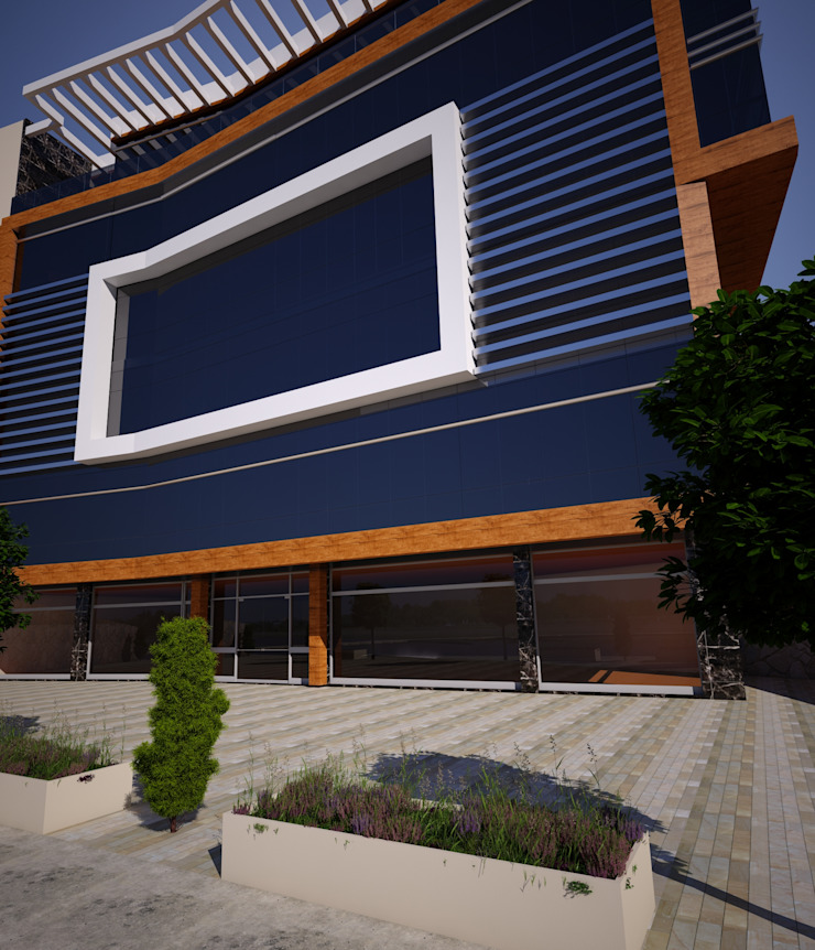Şemikler İş Merkezi Dış Cephe Çalışması Modern Evler H.E: Mimarlık Modern
