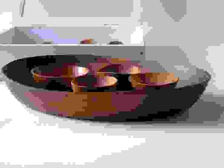 木の器: 桜木工舎が手掛けた現代のです。,モダン 木 木目調