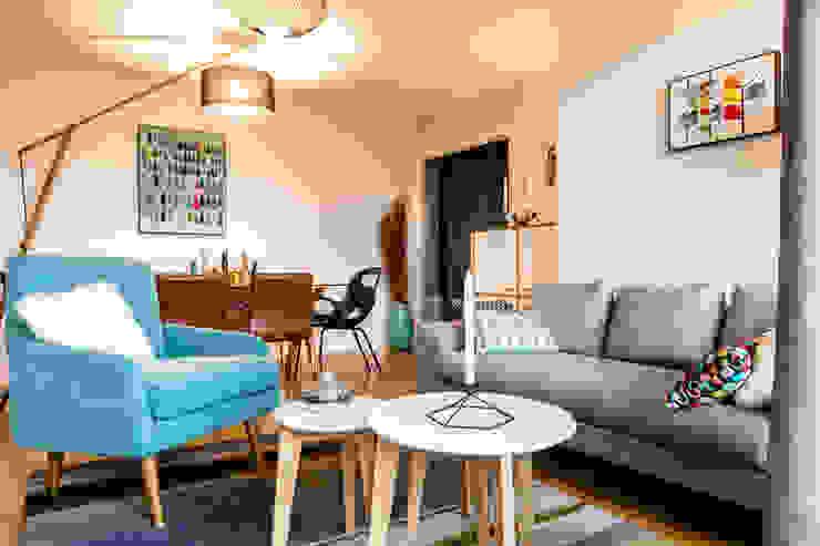salon sejour style scandinave Salon scandinave par MJ Home Scandinave