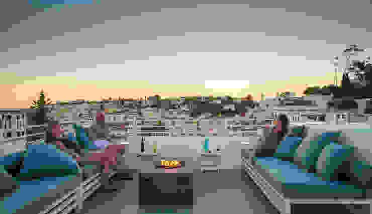 studioarte Varandas, alpendres e terraços minimalistas