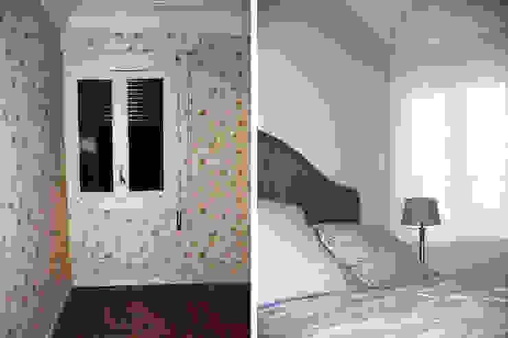 Dormitorio principal antes y después de la reforma Dormitorios de estilo moderno de CPETC Moderno