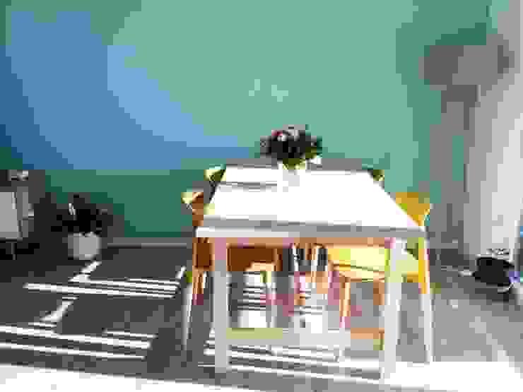 Séjour/salle à manger Mint Design Salle à manger scandinave Turquoise