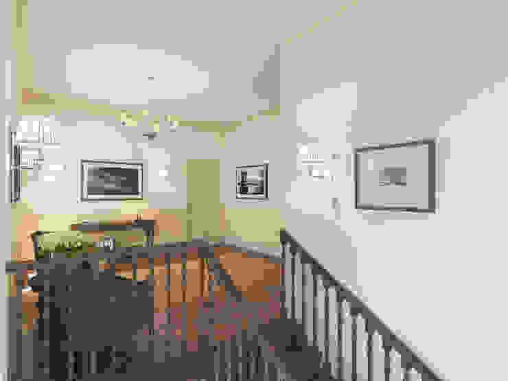 Неоклассика: визуализация и дизайн Дома Досуга Коридор, прихожая и лестница в классическом стиле от OK Interior Design Классический Изделия из древесины Прозрачный