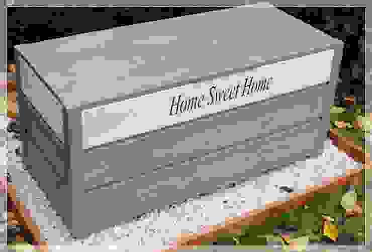 Drewniany kufer ogrodowy, skrzynia - Home Sweet Home od MT WoOD Klasyczny Drewno O efekcie drewna