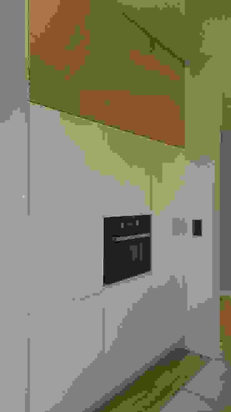 Mieszkanie 50 m2 na warszawskiej ochocie Nowoczesna kuchnia od Project Art Joanna Grudzińska-Lipowska Nowoczesny