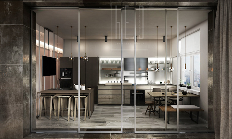 Minimalist kitchen by he.d group Minimalist
