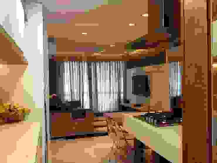Gourmet e Living por Emerson Penso Arquitetura e Interiores