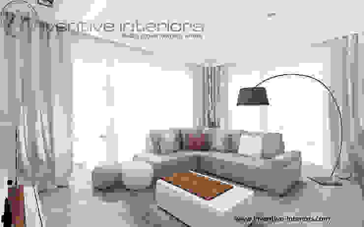 Inventive Interiors jasny przytulny salon Skandynawski salon od Inventive Interiors Skandynawski